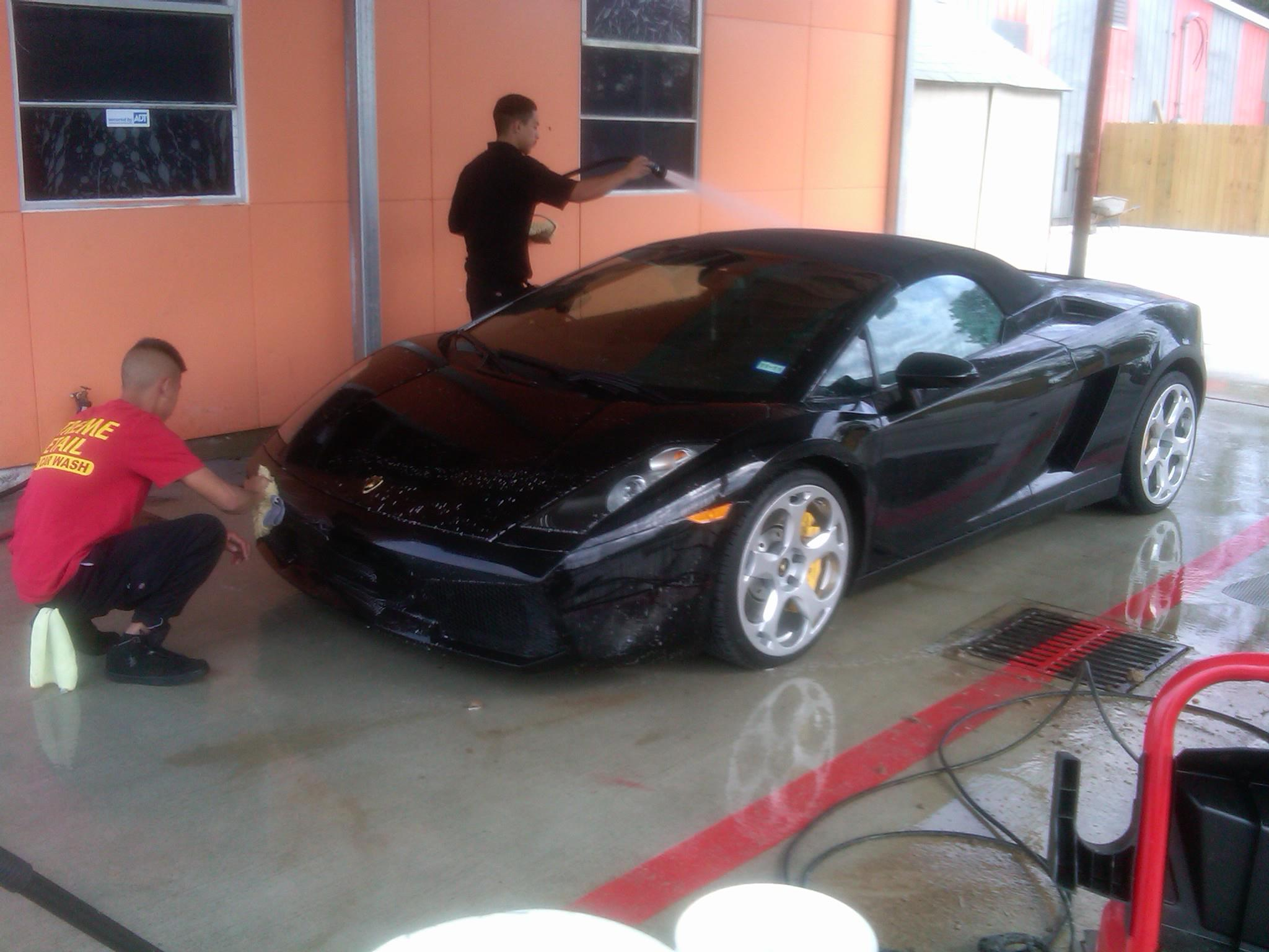 Extreme detail cleaning Ferrari