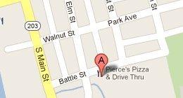 Pierce's Pizza & Drive Thru 205 E. Battle St Prospect, OH 43342
