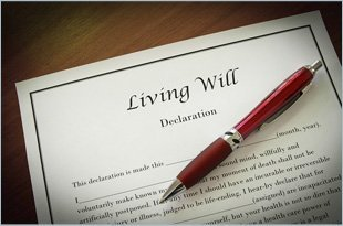 A living will declaration form