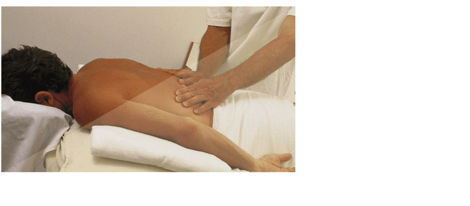 A man having a massage therapy
