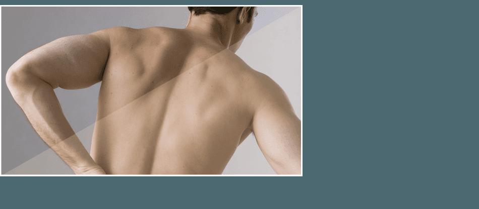 A man having back pain