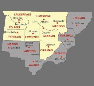CB's Repair Service Area Map