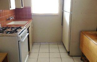 Motel kitchen area