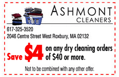 Ashmont Cleaners Coupons - West Roxbury, MA