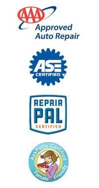AAA, ASE, Repair Pal, AskPatty Certified logo