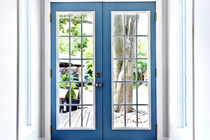 Blue door design