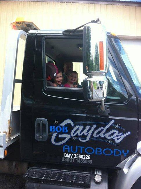 Children inside truck