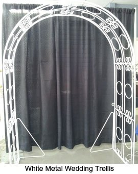 White Metal Wedding Trellis