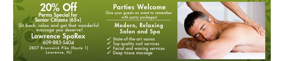 Massage and Facials - Lawrence, NJ - Lawrence SpaRex