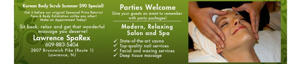 Lawrence SpaRex - Massage and Facials - Lawrence, NJ