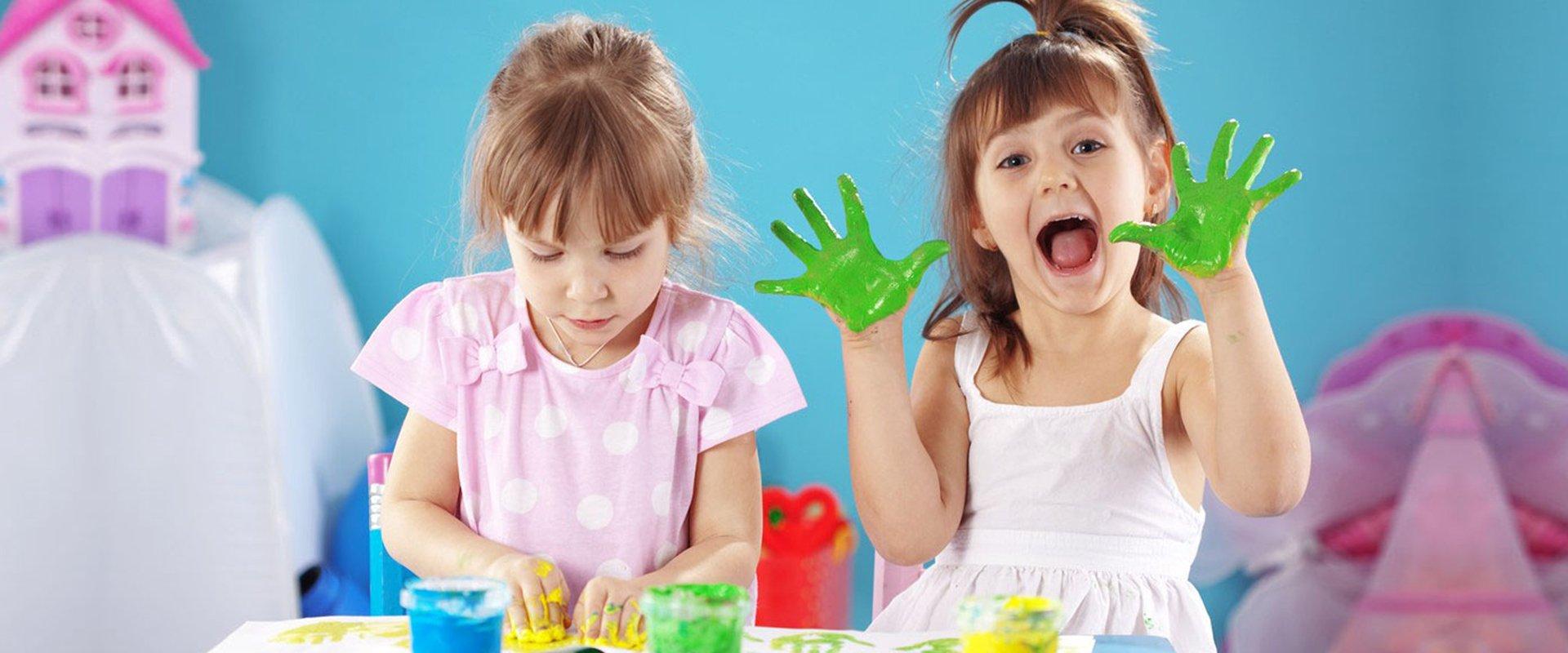 Nursery children painting