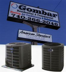 heating and cooling systems - Wintersville, OH - Gombar Refrigeration - sign, aircon