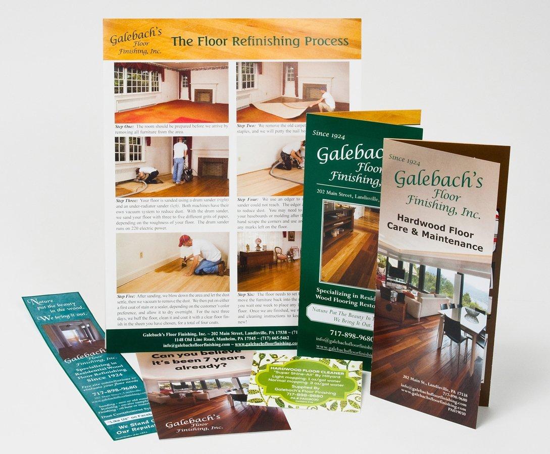 Portfolio example - Galebach's Floor Finishing design