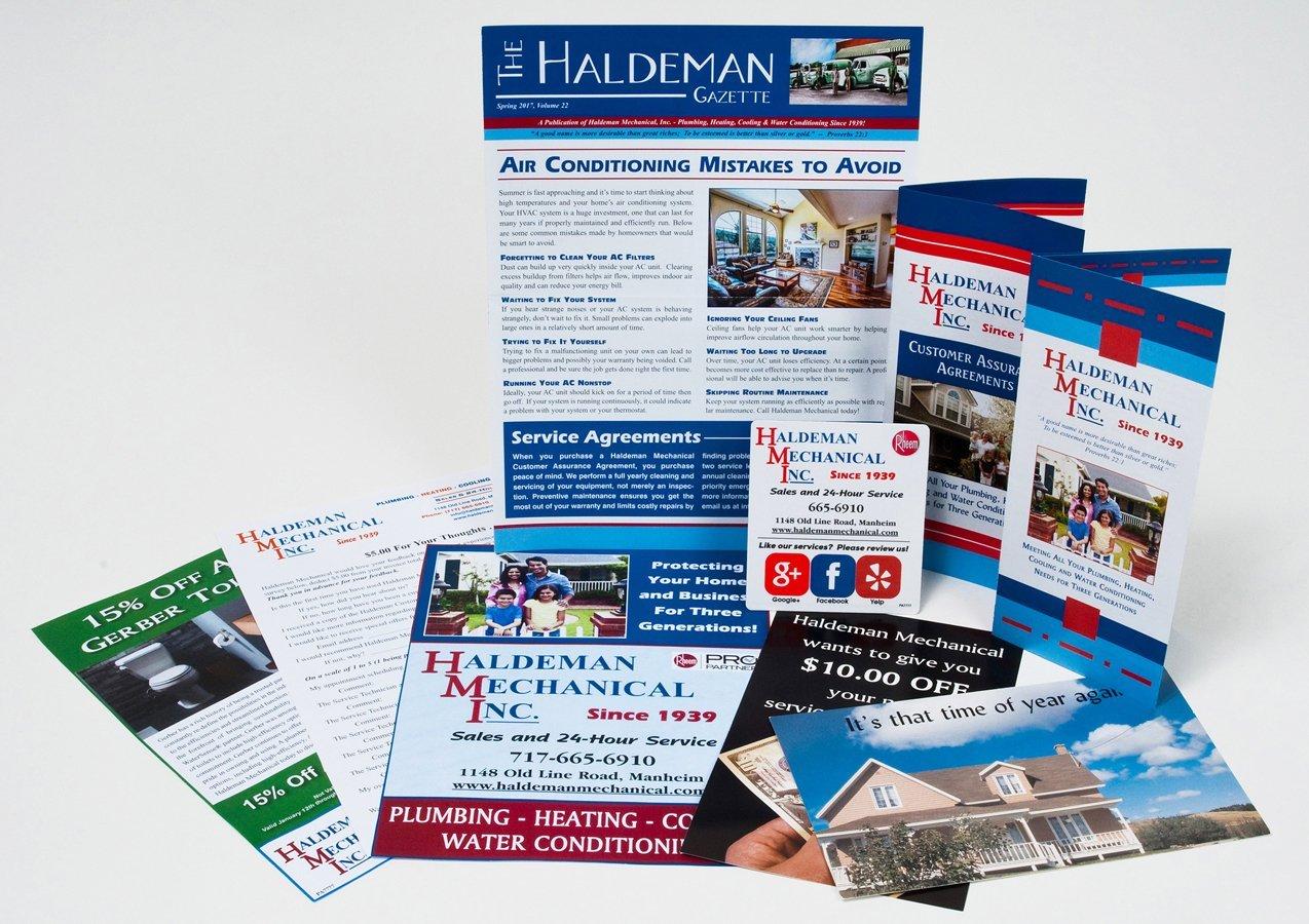 Portfolio example - Haldeman Mechanical Inc. design