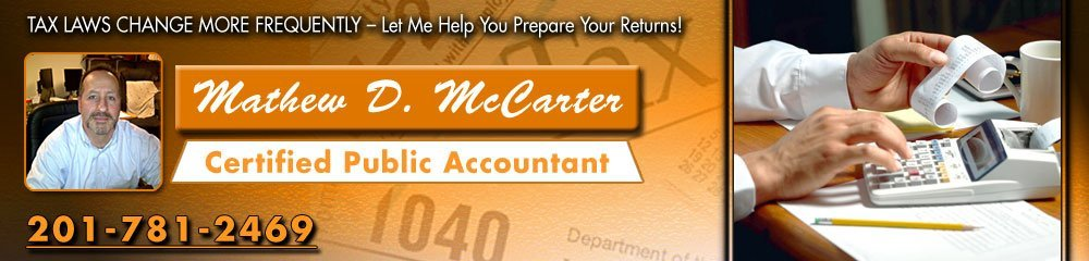 Accounting Services - Washington Township, NJ - Mathew D. McCarter Certified Public Accountant