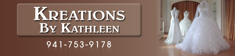 Wedding Gown Alteration - Bradenton, FL - Kreations By Kathleen