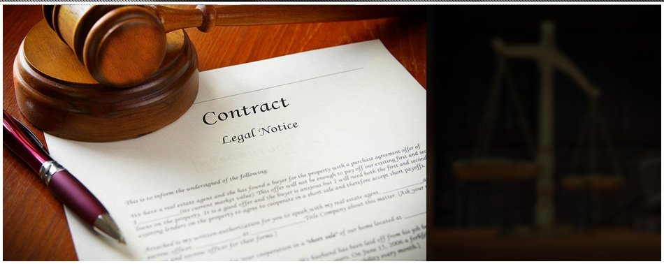 Legal gavel and a Real Estate contract