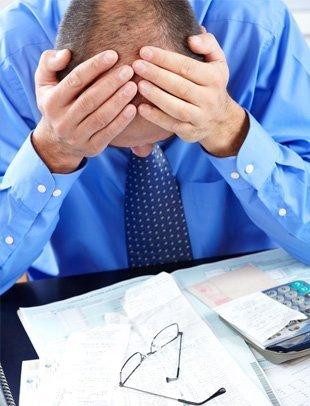 Businessman  suffering from headache