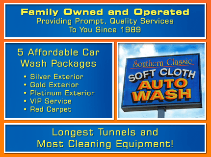 Car Wash - New River Valley, Blacksburg and Roanoke  - Southern Classic Soft Cloth Auto Wash