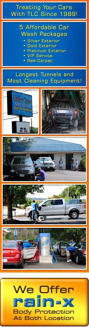 Car Wash Services  - New River Valley, Blacksburg and Roanoke  - Southern Classic Soft Cloth Auto Wash