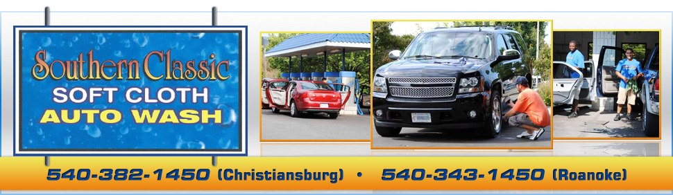 Southern Classic Soft Cloth Auto Wash  - Car Wash - New River Valley, Blacksburg and Roanoke