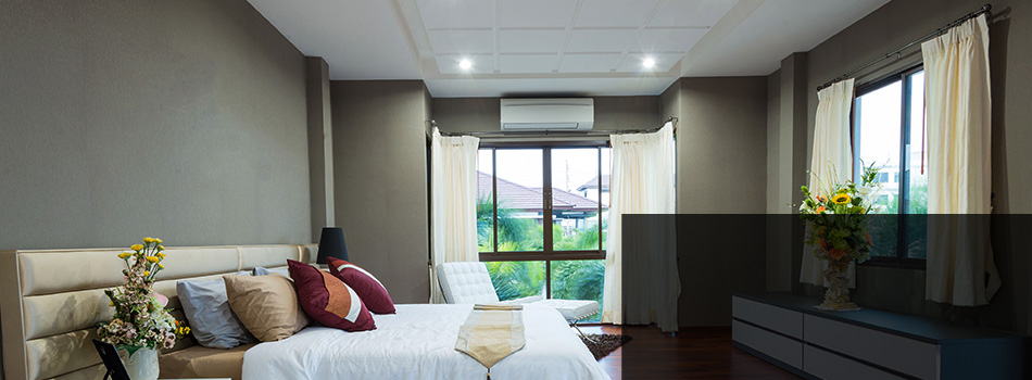An airconditioned room
