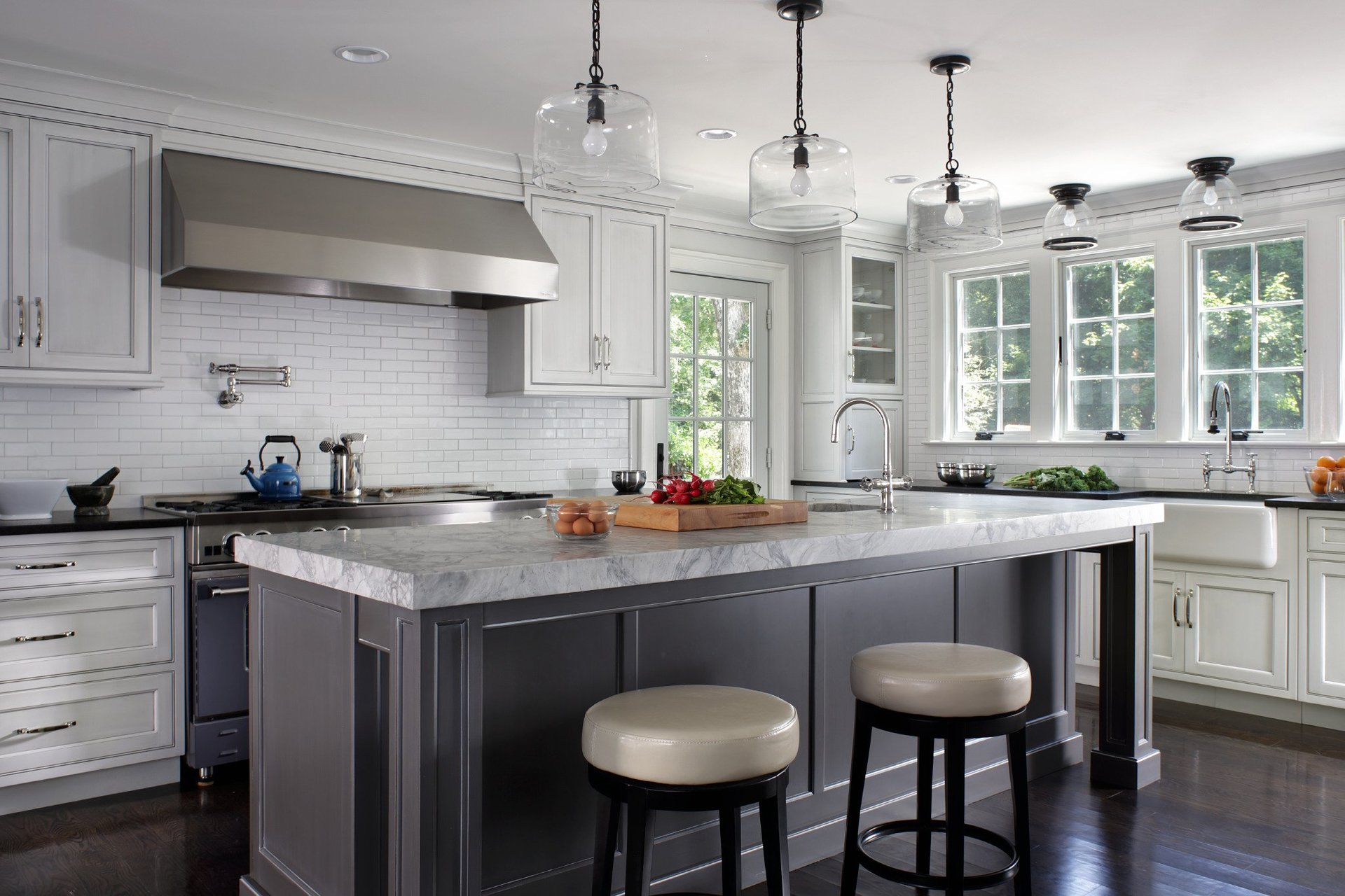 Blue Kitchen Paint Colors Pictures Ideas Tips From: Steve Unser Cabinetry Photo Gallery