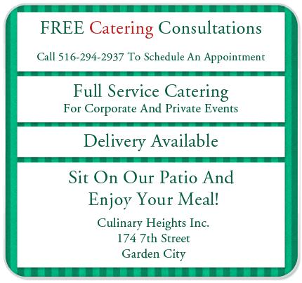 Restaurant  - Garden City, NY - Culinary Heights Inc.