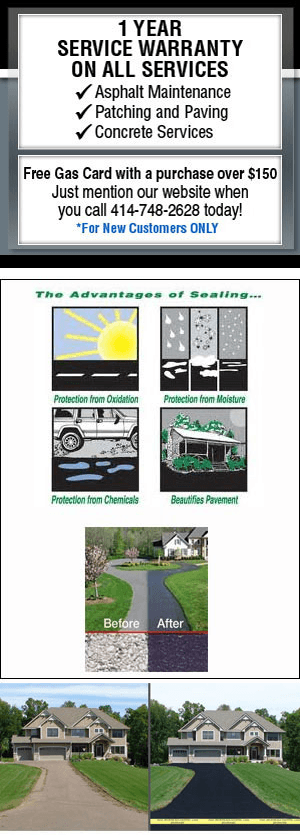 Asphalt Maintenance - Pewaukee, WI - Stone Coatings & Asphalt Maintenance