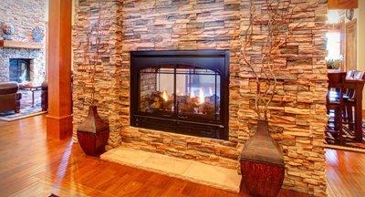 Stone Facings Fireplace