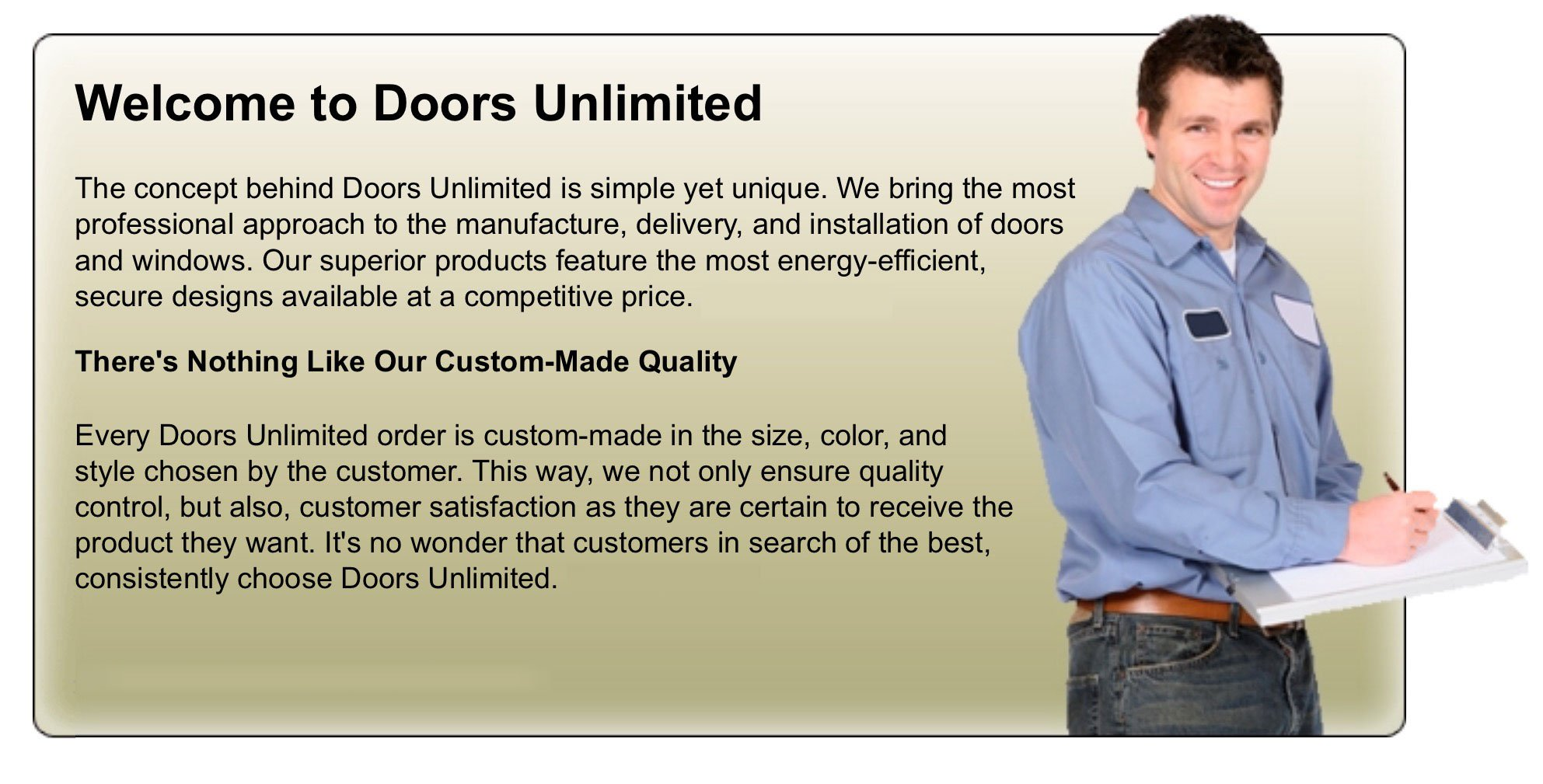 Slide Title  sc 1 th 160 & Doors Unlimited | Door Installations | Philadelphia PA pezcame.com