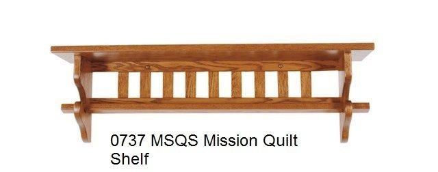 0737 30 MSQS mission quilt shelf