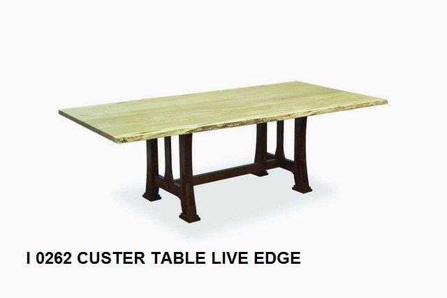 I 0262 Custer table live edge