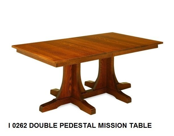I 0262 Double pedestal mission table