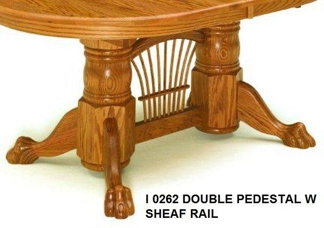 I 0262 Double Pedestal W Sheaf Rail table