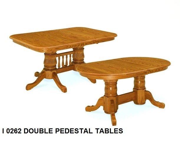 I 0262 Double pedestal tables