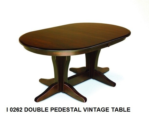 I 0262 Double pedestal vintage table