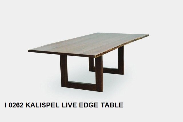 I 0262 Kalispel Live edge table