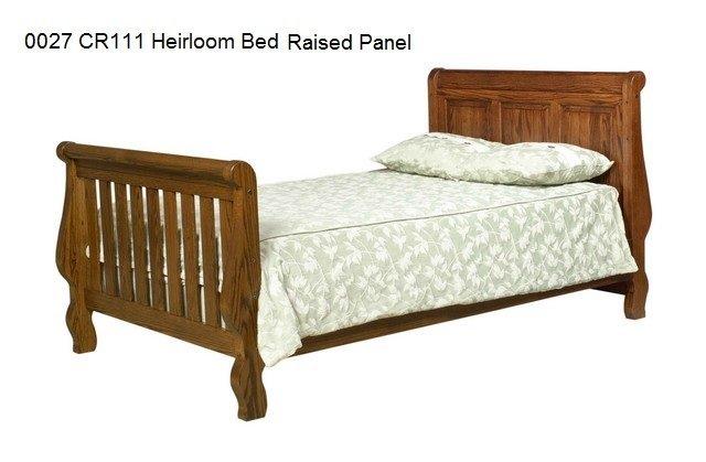 0027 CR111 Heirloom Bed raised panel