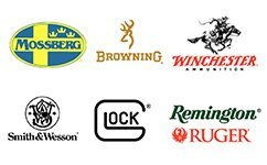 Mossberg, Browning, Winchester, Smith & Wesson, Glock, Remington, Ruger