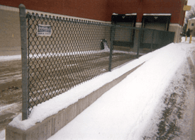 Specialty Commercial Fences - Traverse City, MI - Durable Fence Inc. - Loading Dock Fence