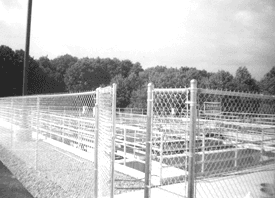 Industrial Fences - Traverse City, MI - Durable Fence Inc. - Waste Treatment