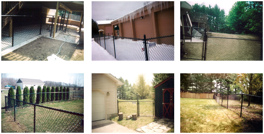 Residential Fences - Traverse City, MI - Durable Fence   Inc. - Vinyl Chain Link Fence