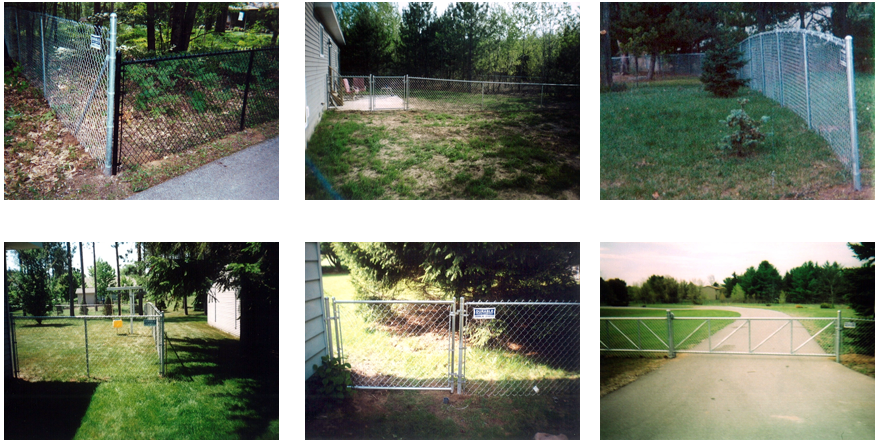 Residential Fences - Traverse City, MI - Durable Fence   Inc. - Galvanized Chain Link Fence