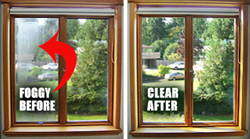 Fogged Window Before & After