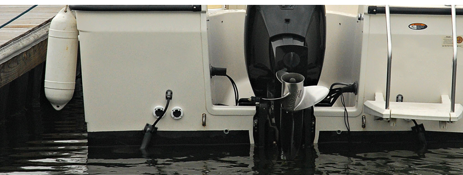 Two boat propellers