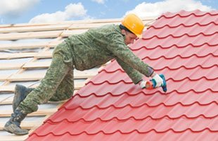 Installation of tile roofs