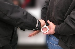 Man with handcuff