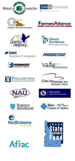 Insurance company brand logos
