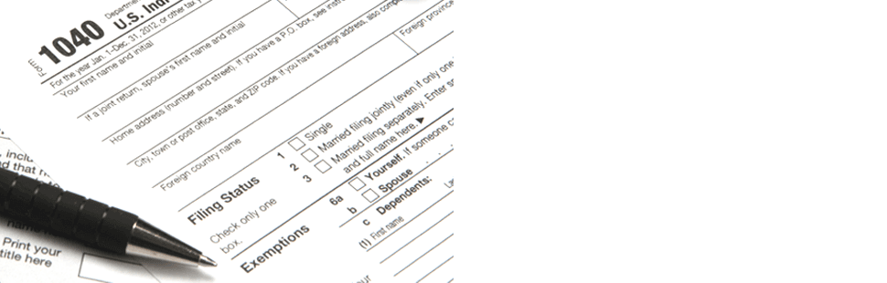 A View Of Pen On 1040 Tax Application